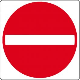"Podlahový piktogram ""Zákaz vstupu"""