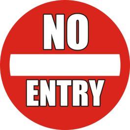 """Protiskluzový podlahový piktogram: """"No Entry"""""""