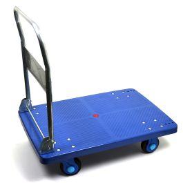 Plastový plošinový vozík se sklopnou rukojetí, nosnost 300 kg