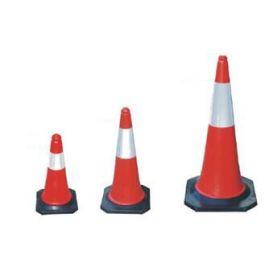 Červeno-bílý dopravní kužel – pylon