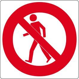 "Podlahový piktogram ""Zákaz vstupu chodcům"""