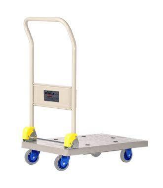 Skládací plastový plošinový vozík Prestar, nosnost 150 kg