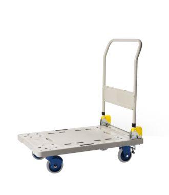 Skládací plastový plošinový vozík Prestar, nosnost 300 kg