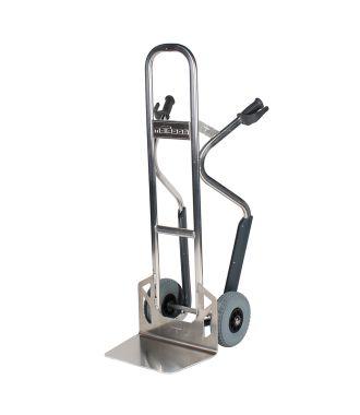 Hliníkový ruční vozík Matador NST250CT se skluzem na schodiště; nosnost 350 kg