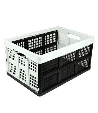 Skládací krabice – 46 litrů – světle šedá a černá