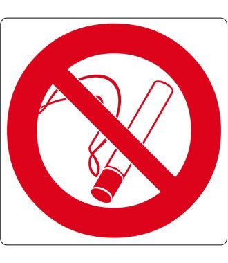 """Podlahový piktogram """"Kouření zakázáno"""""""