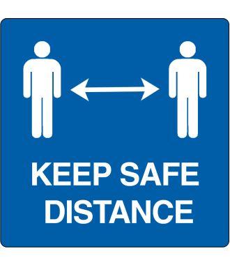 """Podlahový piktogram """"Keep safe distance"""""""