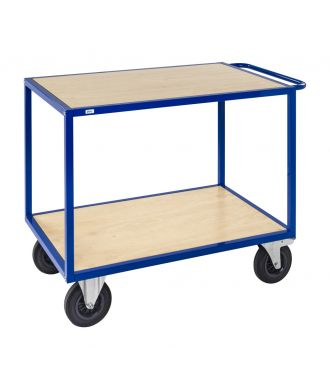 Stolový vozík Kongamek s dřevěnými plošinami, nosnost 500 kg