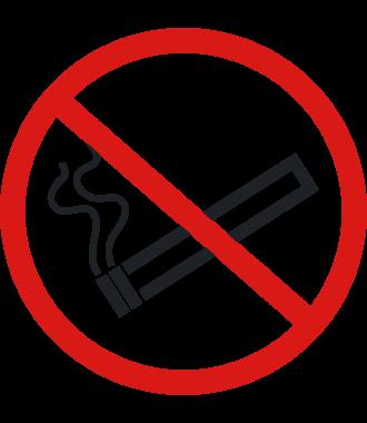 """Protiskluzový podlahový piktogram: """"Zákaz kouření"""""""