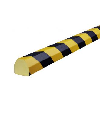 Pěnový chránič Knuffi pro rovné povrchy, typ CC – žluto-černý – 5 metr