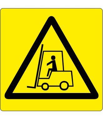"""Podlahový piktogram """"Pozor – provoz vysokozdvižných vozíků"""""""