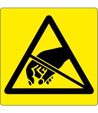 """Podlahový piktogram """"Pozor – zařízení citlivé na elektrostatický náboj"""""""