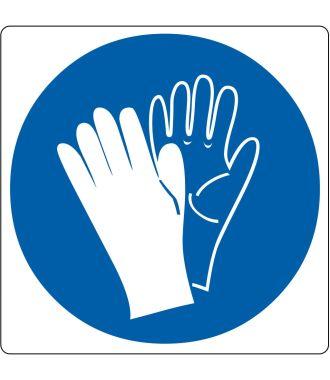 """Podlahový piktogram """"Používej ochranné rukavice"""""""