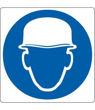 """Podlahový piktogram """"Používej ochrannou přilbu"""""""