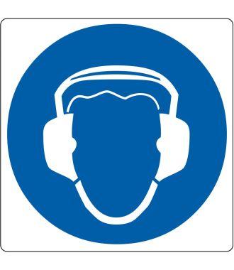 """Podlahový piktogram """"Používej chrániče sluchu"""""""