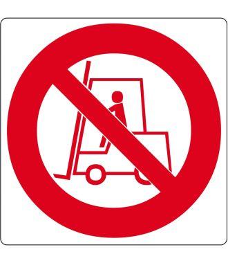 "Podlahový piktogram ""Zákaz vjezdu vysokozdvižným vozíkům"""
