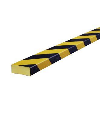 Pěnový chránič Knuffi pro rovné povrchy, typ D – žluto-černý – 5 metr