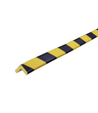 Pěnový chránič rohů Knuffi, typ E – žluto-černý – 5 metr