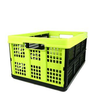 Skládací krabice – 46 litrů – limetková a černá
