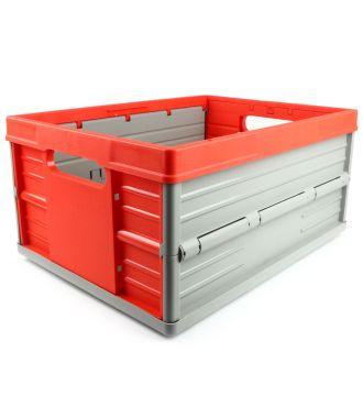 Skládací krabice – 32 litrů – červená a šedá