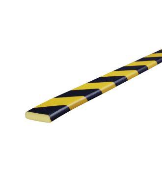 Pěnový chránič Knuffi pro rovné povrchy, typ F – žluto-černý – 5 metr
