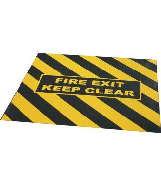 """Výstražná páska pro nouzový východ s nápisem """"FIRE EXIT KEEP CLEAR"""""""