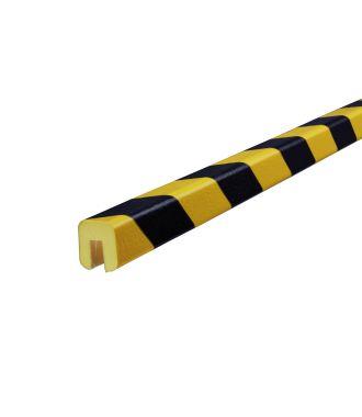 Pěnový chránič hran Knuffi, typ G – žluto-černý – 5 metr