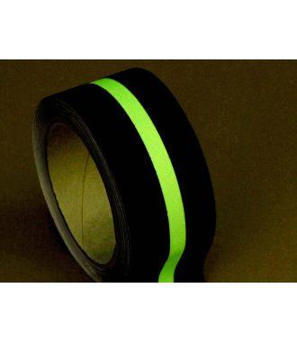 Protiskluzová páska (černá) s fotoluminiscenčním pruhem