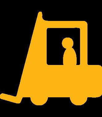 Podlahový piktogram vysokozdvižného vozíku, protiskluzový