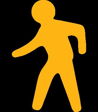 Podlahový piktogram cesty pro pěší, protiskluzový