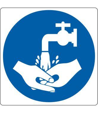 """Podlahový piktogram """"Je třeba mytí rukou"""""""