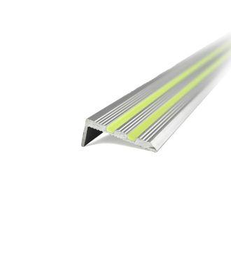 Fotoluminiscenční hliníkový schodový profil
