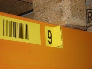 Kontrolní číslo na zvláštním štítku
